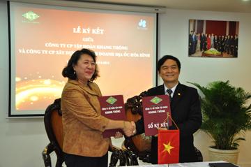 Hòa Bình hợp tác cùng tập đoàn Khang Thông