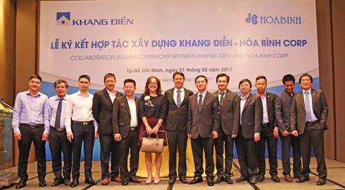Hòa Bình làm tổng thầu D&B dự án chung cư cao cấp của Khang Điền