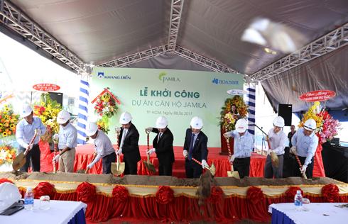 Tập đoàn Xây dựng Hòa Bình xây dựng dự án căn hộ Jamila Khang Điền