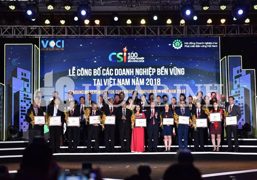 Hòa Bình nhận giải thưởng Doanh nghiệp Bền vững năm 2018 - 1