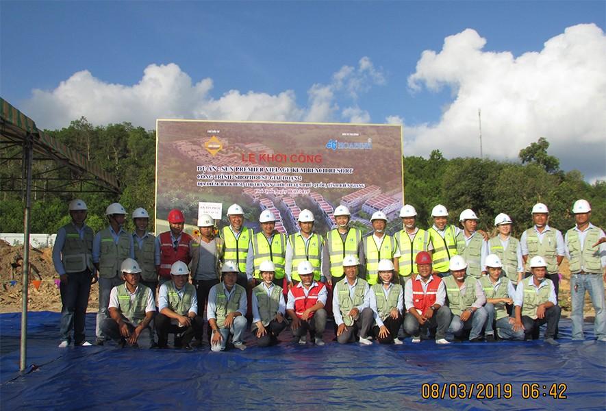 Tập đoàn Xây dựng Hòa Bình khởi công gói thầu mới dự án Sun Premier Village Beach Resort
