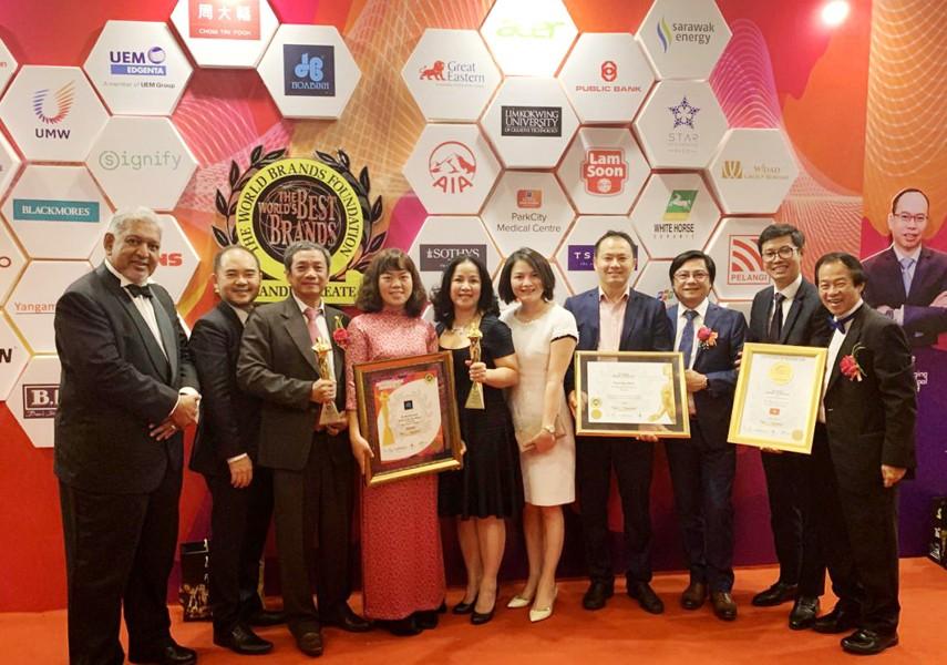 Hòa Bình nhận giải thưởng Thương hiệu Xuất sắc Thế giới năm 2019