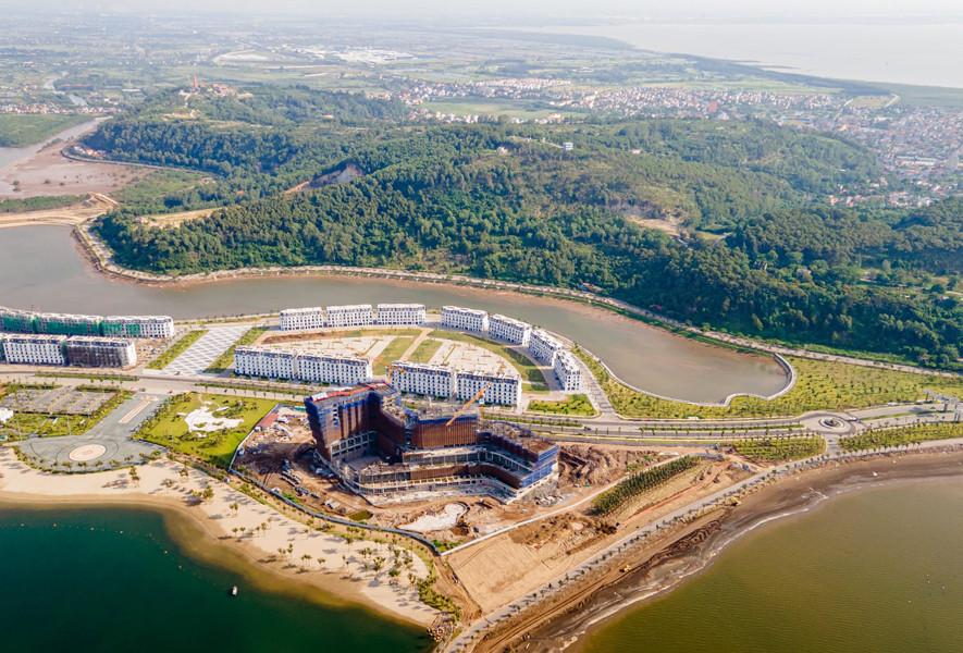 Hòa Bình cất nóc đúng tiến độ dự án Wyndham Ocean Dragon Hotel