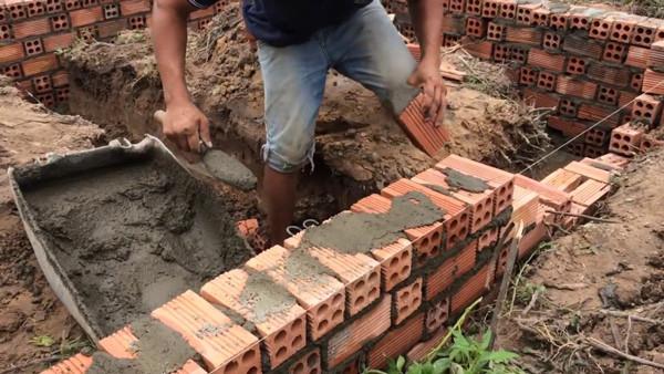 cấu tạo móng gạch 1