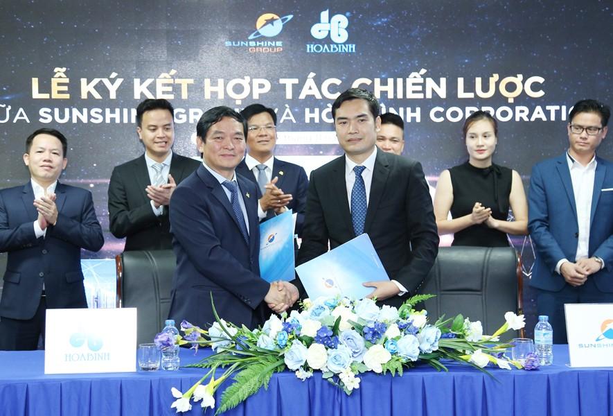 Tập đoàn Xây dựng Hòa Bình và Sunshine Group ký kết hợp tác chiến lược