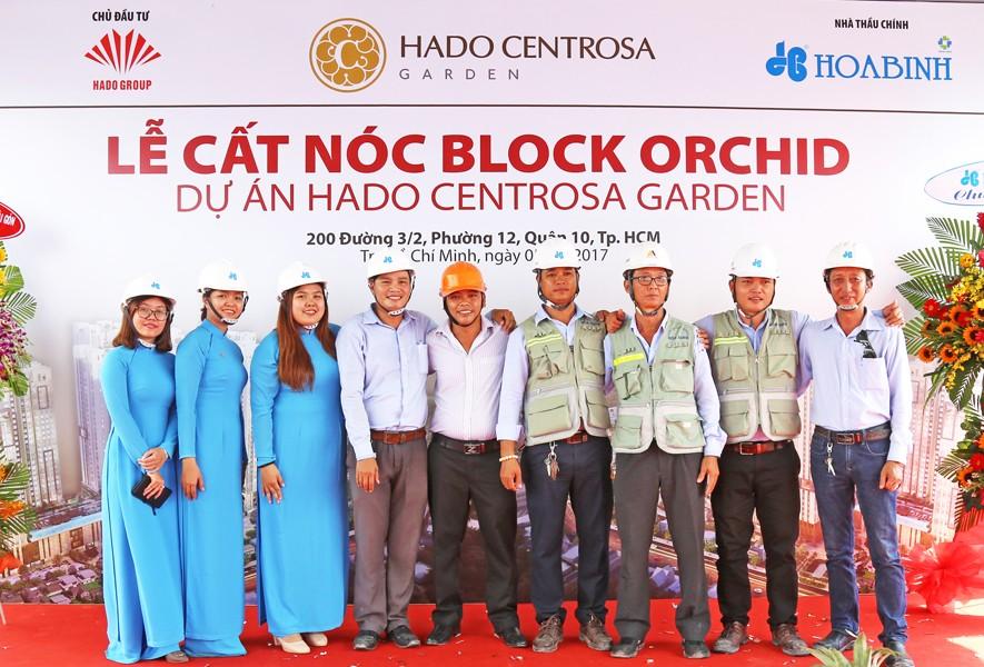 Cất nóc tháp Orchid dự án Hado Centrosa Garden vượt tiến độ 7 ngày - 1