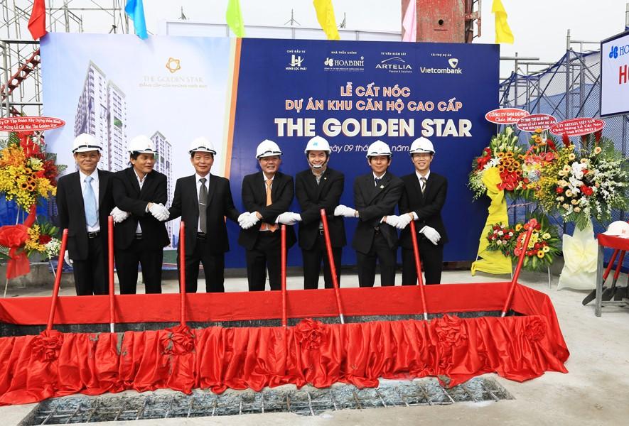 Cất nóc dự án The Golden Star vượt trước tiến độ 6 ngày