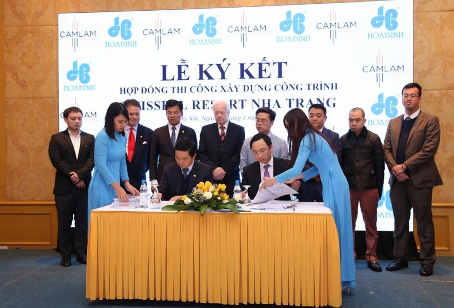 Hòa Bình ký hợp đồng thi công Dự án Swiss Belresort Nha Trang, giá trị 470 tỷ đồng