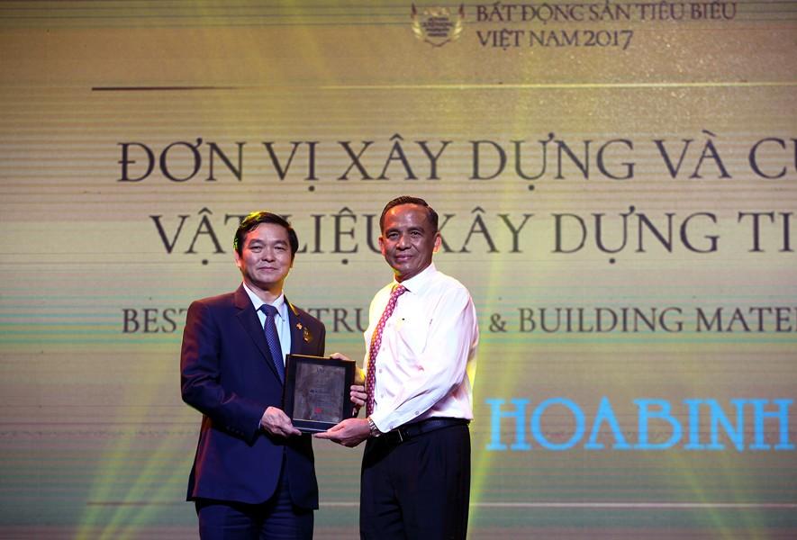 Hòa Bình được vinh danh đơn vị xây dựng và cung cấp vật liệu xây dựng tiêu biểu