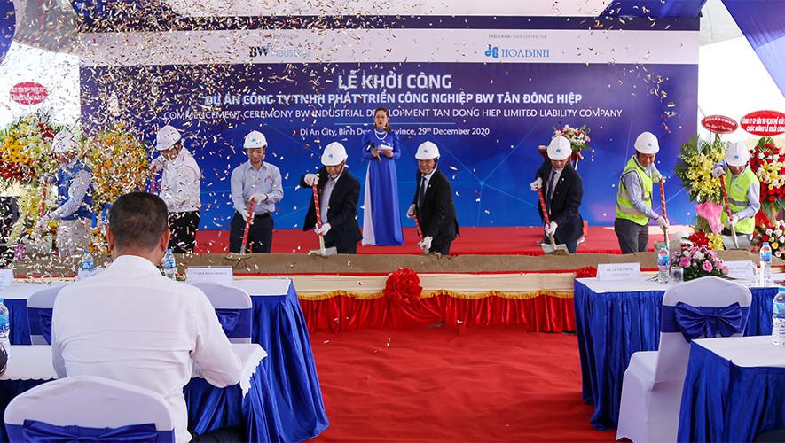 Khởi công Dự án 20 Công ty TNHH Phát triển Công nghiệp BW Tân Đông Hiệp