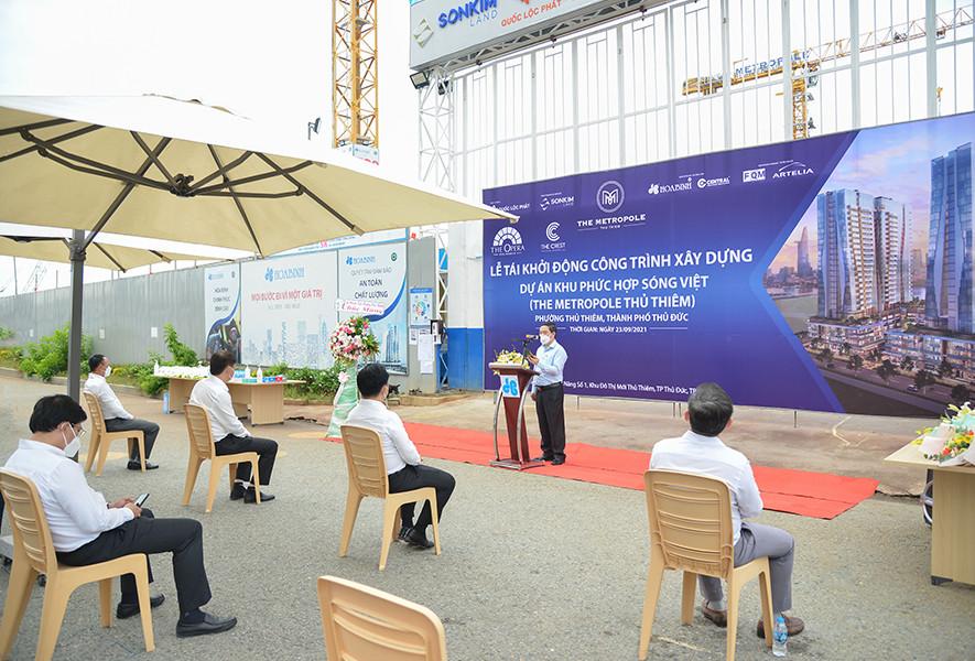 Tập đoàn Xây dựng Hoà Bình tái khởi động dự án Khu phức hợp Sóng Việt