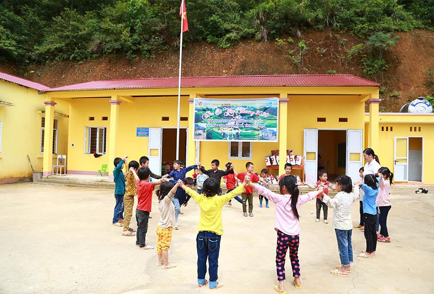 Hòa Bình tài trợ xây điểm trường Cốc Diển tại Bắc Kạn