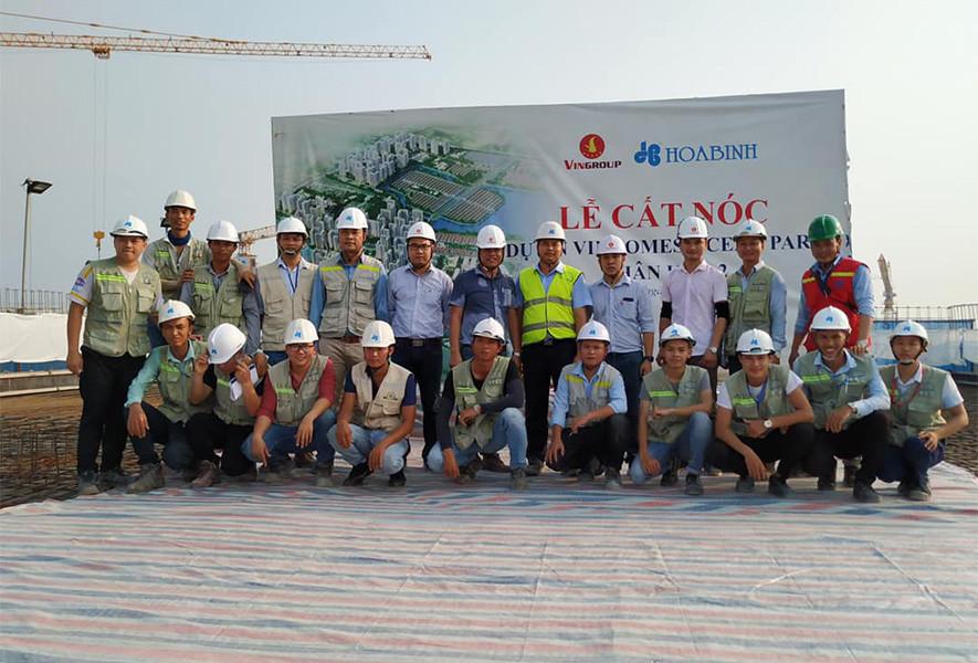 Tập đoàn Xây dựng Hòa Bình thi công vượt tiến độ dự án VinCity Ocean Park