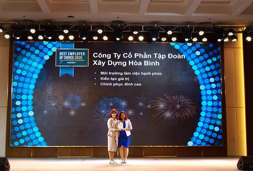 Hòa Bình lọt Top 50 Nhà tuyển dụng hấp dẫn sinh viên Việt Nam
