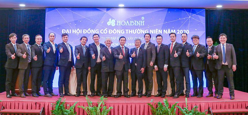 Đại hội cổ đông 2020 Tập đoàn Xây dựng Hòa Bình