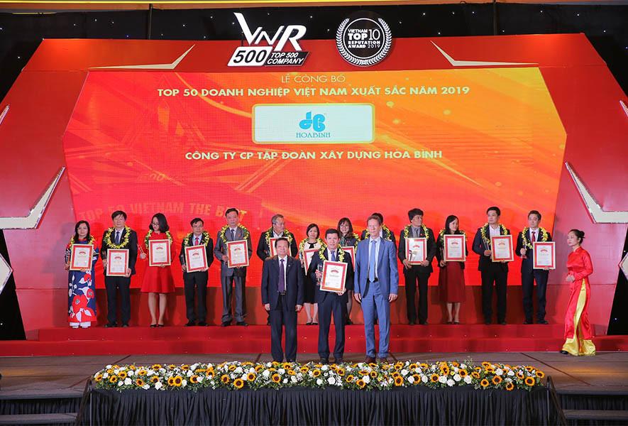 Hòa Bình Top 50 doanh nghiệp Việt Nam xuất sắc